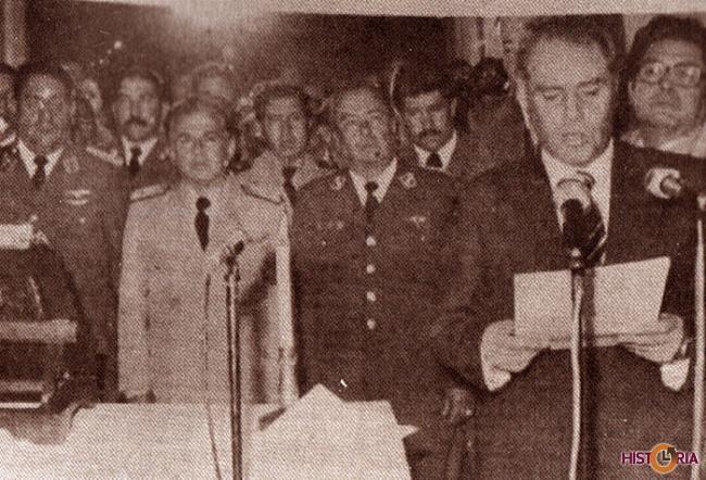 El nuevo presidente Pereda Asbún, mensaje a la nación en 1978.