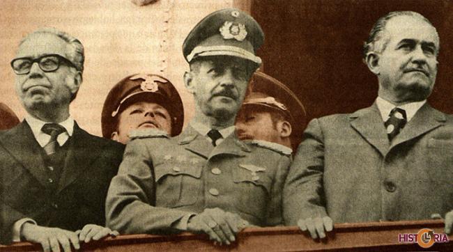 El Frente Popular Nacionalista, conformado por el MNR, la FSB y las FFAA se desintegró en 1974.