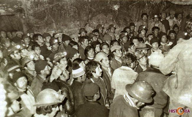 El movimiento minero fue protagonista en el retorno a la democracia.
