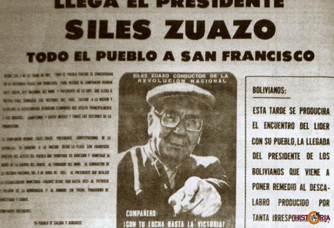 Hernán Siles Zuazo (Periódico Presencia).