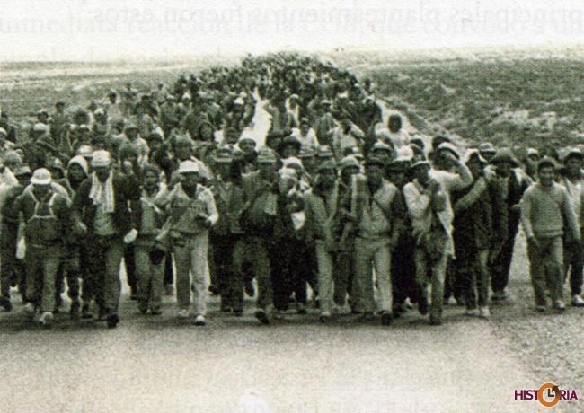 La Marcha por la Vida, agosto de 1986.