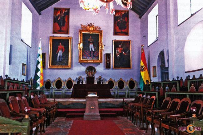 Salón de la Casa de la Libertad en Sucre.